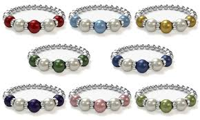 bracelets with birthstones custom birthstone bracelet with swarovski pearls groupon