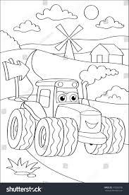 cartoon truck car village coloring page stock vector 472082506