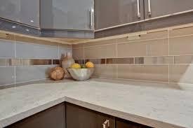 Quartz Countertops With Backsplash - white quartz countertop contemporary kitchen design beige backsplash