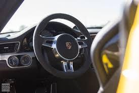 porsche inside view gt3tour meet the racing yellow porsche 911 991 gt3