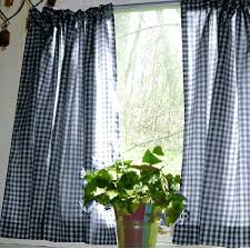 Navy Buffalo Check Curtains Blue Plaid Kitchen Curtains Full Size Of Living Curtains With