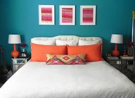 Bedroom Paint Ideas Teal Toward Queen Size Foam Mattress Below - Bedroom orange paint ideas