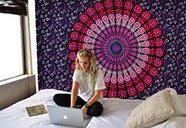 tapestry home decor amazon com tapestry twin bohemian mandala tapestry wall hanging