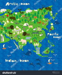 Maps Of Asia by Cartoon Map Asia Stock Vector 348162698 Shutterstock