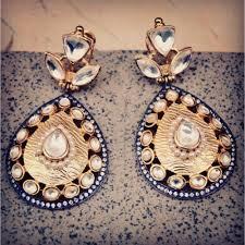 dangler earring kundan dangler earrings