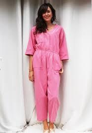 pink jumpsuit womens 80s pink jumpsuit vintage sleeved pink 80s playsuit womens