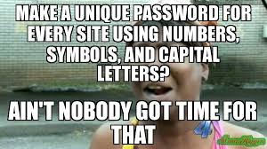 Meme Letters - make a unique password for every site using numbers symbols and