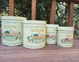 pink kitchen canisters floral canister etsy