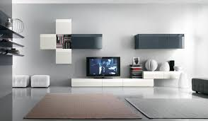 Modern Living Room With Tv Wall Units Shoisecom L Decorating - Living room wall units designs