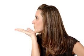 hair i woman s chin sideways sideways blowing kiss stock image image of caress kiss 642149
