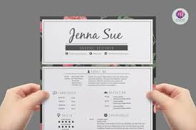 pretty resume templates modern resume template resume templates creative market