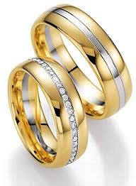 couples wedding rings images Stylish 14k white and yellow gold couples wedding rings 0 47 ct jpg