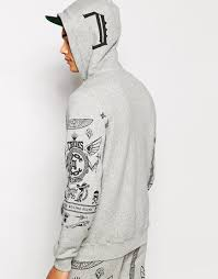 crooks and castles black friday crooks and castles black order hoodie in gray for men lyst