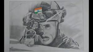 how to draw indian army man sketch pencil drawing pencil shading
