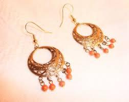 Chandelier Earrings Etsy Coral Chandelier Etsy