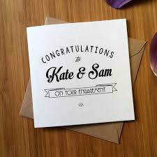 engagement congratulations card personalised engagement congratulations card by ivorymint