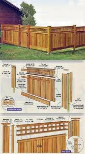 building a cedar fence outdoor plans and projects