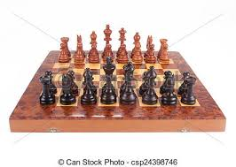 how to set up chess table old chess board set up to begin a game over white stock photo