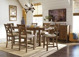 Dining Room Set by Moriville Gray Extendable Counter Height Dining Room Set From