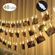 led lights for dorm 40 led photo clips string lights adecorty usb powered christmas