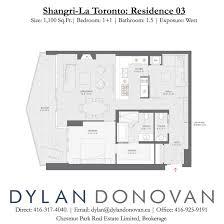 Residence Floor Plans Shangri La Toronto Floor Plans Residence 03
