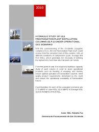 distillation column case study natural gas processing distillation