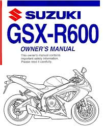 2008 suzuki gsx r600 motorcycle owners manual gsx r 600 gsxr600