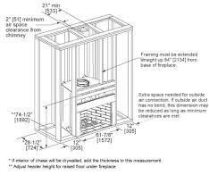 Standard Fireplace Dimensions birmingham masonry style wood fireplace heatilator