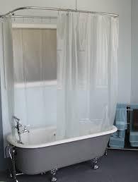 Clawfoot Tub Shower Curtain Liner Wrap Around Shower Curtain Clawfoot Tub Shower Curtains Ideas