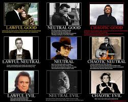 Alignment System Meme - what a horrible night to have a curse johnny cash alignment poster