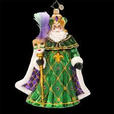 radko karnival kringle santa mardi gras carnivale mask glass