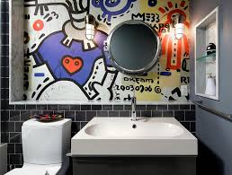 bathroom wall mural ideas graffiti interiors home murals and decor ideas