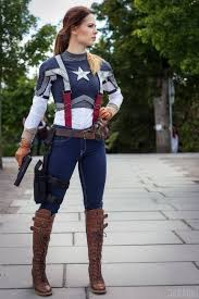 Captain Marvel Halloween Costume Cosplayer Annette Lunde Character Captain America Genderbend