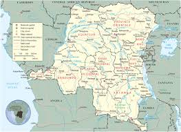 Map Of Central Africa by Map Of Democratic Republic Of The Congo Travel Africa
