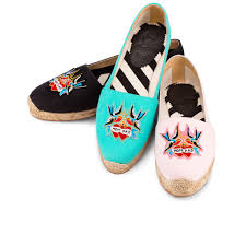 christian louboutin mom and dad flat canvas ballerina the real
