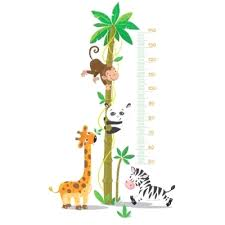 stickers savane chambre bébé stickers mural afrique jungle girafe elephant impressionnant