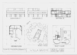 villa savoye floor plans home design u0026 interior design