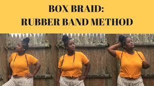 braid band hair how to box braid rubber band method hairstyle