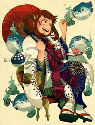 japanese style mha classical japanese style art