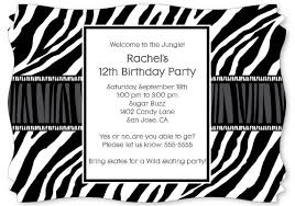 zebra print personalized party invitations the kid u0027s fun review
