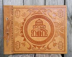 Leather Photo Albums Engraved Leather Wedding Photo Album Tree Of Life 10 U0027 U0027x
