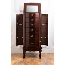 brown jewelry armoire abigail jewelry armoire brown hives honey target