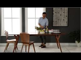 mid century expandable dining table choose mid century dining furniture west elm youtube