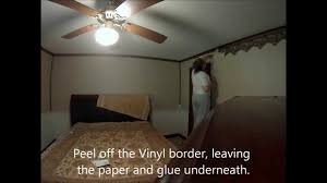 removing vinyl wallpaper border youtube