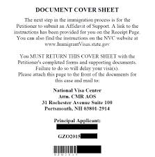 Document Cover Sheet by Cr1 Electronic Filing Processes General Visa Discussion U0026 First