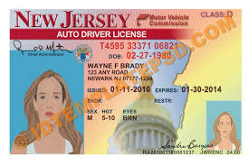 this is new jersey usa state drivers license psd photoshop