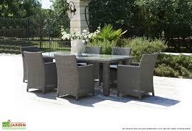 canapé de jardin en résine tressée table jardin resine tressee salon jardin maisondours