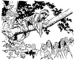 scripture reference for the coloring page is luke 19 1 10 title