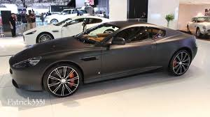 am carbon black 2011 aston matte black aston martin db9 dubai motor show 2013 youtube