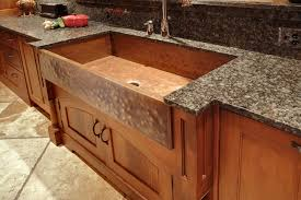 copper kitchen sink space between cabinets and ceiling handmade